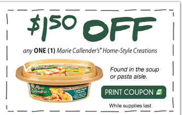 photograph relating to Marie Callender Coupons Printable known as $1.50 off Marie Callenders Homestyle-Creations - Hunt4Freebies