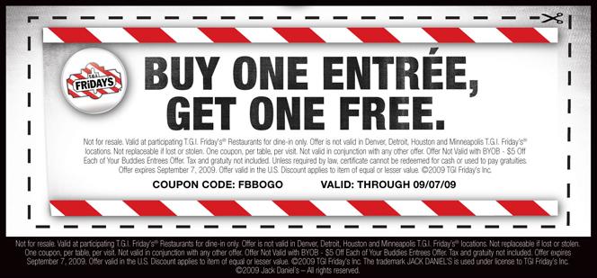 TGI Fridays Coupon Codes, Printable coupons, and Promo Codes