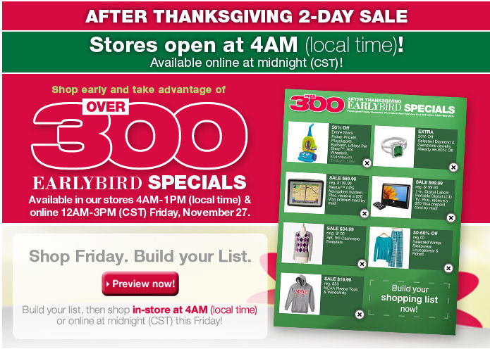 Kohls After Thanksgiving 2 Day Sale