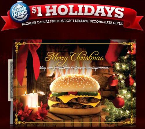 Burger King $1 Holidays Gift Cards - Hunt4Freebies