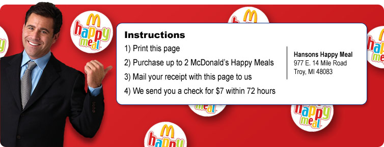 FREE McDonalds Happy Meals or FREE Little Caesars PizzaMcdonalds Pizza Happy Meal