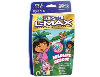 Leapster L-Max Game Dora the Explorer Wildlife Rescue