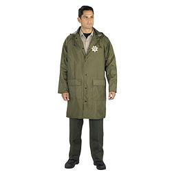 Nylon raincoat with detachable hood