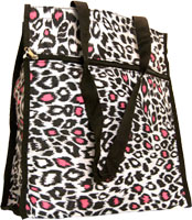 Pink and White Leopard Tote Bag