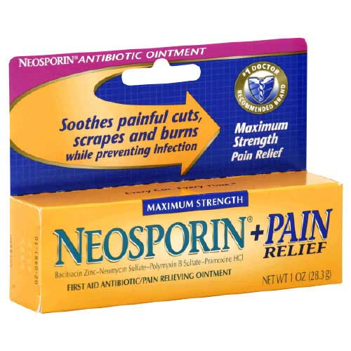 Neosporin Original Ointment provides long-lasting infection protection and minimizes the appearance of scars. Made with bacitracin zinc, this first aid antibiotic ointment helps prevent infection in minor cuts, scrapes, and burns.