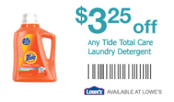image regarding Lowes Printable Coupons identify Lowes Discount coupons: Tide, Treatment, Lysol + Even further - Hunt4Freebies