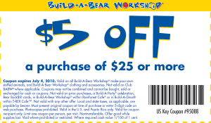graphic regarding Build a Bear Printable Coupon named Create-a-Endure: $5 off $25 Printable Coupon - Hunt4Freebies