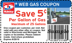 photo about Printable Gas Coupons titled Family vacation Station: $.05 Off For every Gallon of Gasoline Printable Coupon