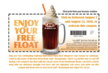 picture relating to Beer Coupons Printable referred to as AW: No cost Root Beer Float w/ invest in Printable Coupon