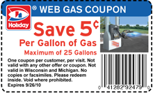 picture about Gas Coupons Printable titled Holiday vacation Station: Help you save $.05 For every Gallon of Gasoline Printable