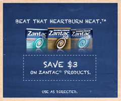 image about Zantac Printable Coupon known as $3 off Zantac Printable Coupon \u003d $1 at Walmart - Hunt4Freebies