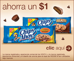 picture regarding Chips Ahoy Coupons Printable titled $1 off Chips Ahoy with Heath or Reeses Printable Coupon