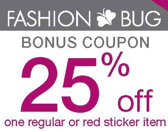 photograph relating to Coupon Bug Printable Coupons referred to as Design and style Bug: 25% off One particular Monthly or Crimson Sticker Merchandise