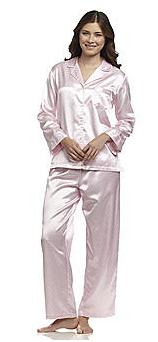 Bonton Miss Elaine Womens Brushed Back Satin Pajama Set for 675