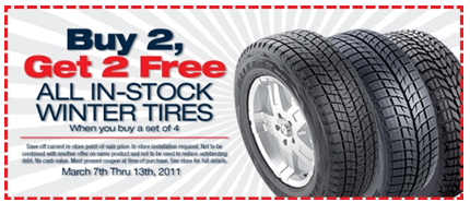 Firestone Tires Coupon Firestone: Buy 2 get 2 FREE Winter Tires Printable Coupon