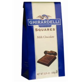 image regarding Ghirardelli Printable Coupon titled $1 off Ghirardelli Squares Chocolate Baggage Printable Coupon