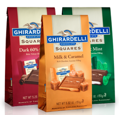 photo relating to Ghiradelli Printable Coupons identified as $1.50 off Ghirardelli Squares Chocolates Bag Printable