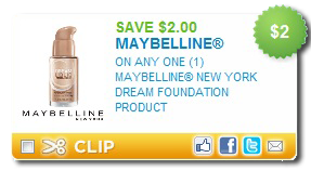 picture about Maybelline Coupons Printable called $2 off Maybelline Refreshing York Aspiration Base Printable Coupon
