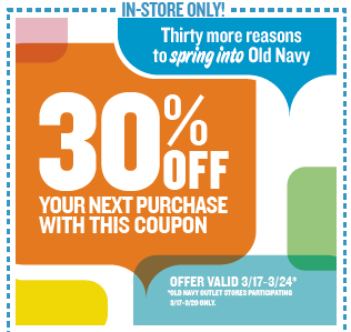 old navy 30 off in store purchase printable coupon hunt4freebies