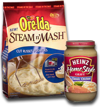 Ore Ida BOGO BOGO Ore Ida Steam n Mash Potatoes Get Heinz Gravy FREE Printable Coupon