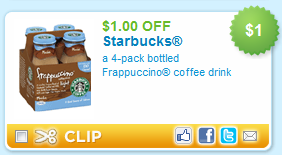photo relating to Starbucks Coupons Printable called $1 off Starbucks Bottled Frappuccino Espresso Printable Coupon