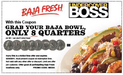 graphic about Baja Fresh Coupons Printable identified as Baja New: $2 Baja Bowl Printable Coupon - Hunt4Freebies