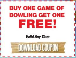 photo about Brunswick Zone Printable Coupon named Bruswick Bowling BOGO Totally free Printable Coupon - Hunt4Freebies