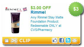 graphic relating to Rimmel Coupons Printable identified as $3 off ANY Rimmel Are living Matte Base Printable Coupon
