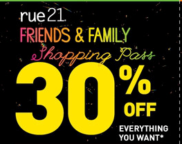 image about Rue 21 Printable Coupons known as Rue 21: 30% off Get Printable Coupon 5/13-5/15
