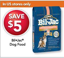photograph relating to Bil-jac Coupons Printable called Petsmart: $5 off Bil-Jac Pet dog Food items Coupon - Hunt4Freebies