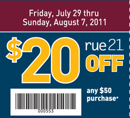 picture regarding Rue 21 Printable Coupon titled Rue 21 Within just-Keep Printable Discount codes - Hunt4Freebies