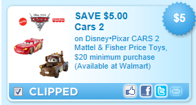 image about Fisher Price Printable Coupons known as $5 off Automobiles 2 Mattel Fisher Selling price Toys Printable Coupon