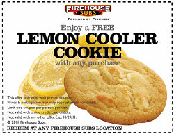 image about Firehouse Subs Coupon Printable called Firehouse Subs: Free of charge Lemon Cookie with Obtain Coupon