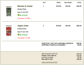 Yankee Candle Order Yankee Candle: Pillar Candles for $8.75