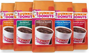 graphic about Dunkin Donuts Coffee Printable Coupons titled $1 off a Bag of Dunkin Donuts Espresso Printable Coupon (Reset