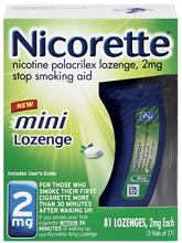 Nicorette Mini Lozenge 81ct $15 off Nicorette Gum, Lozenge or NicoDermCQ  Printable Coupon