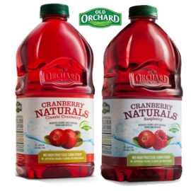 Old Orchard New Cranberry Naturals 11 4 NEW Old Orchard Coupons