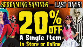 Spirit Halloween5 Spirit Halloween: 20% off ANY One item Purchase Coupon