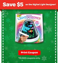 To Get The $5 Off Crayola Digital Light Designer Coupon Click U201cLearn Moreu201d.