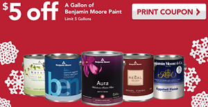 image about Benjamin Moore Paint Coupons Printable titled $5 off a Gallon Of Benjamin Moore Paint at Correct Worthy of