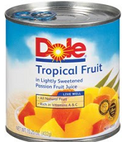 Dole Canned Fruit $1 off 3 Dole Canned Fruits Coupon