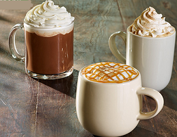 Starbucks Coupon $1 off Caramel Macchiato, Caffe Mocha or Cinnamon Dolce Latte at Starbucks