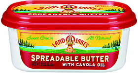 Land O Lakes Spreadable Butter $0.50 off Land O Lakes Butter Spread Product Coupon