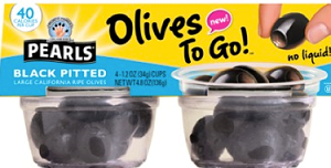 Pearl Olives to Go 4 Pack $1 off Pearl Olives to Go 4 Pack Coupon