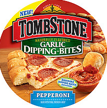 Tombstone Garlic Dipping Bites $1 off Tombstone Garlic Dipping Bites, Double Top or Stuffed Crust Pizza
