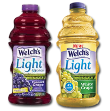 Welchs Light Grape Juice $0.75 off ANY Welchs Light Juice Beverage Coupon
