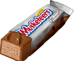 3 MUSKETEERS Bars1 $0.75 off Two 3 MUSKETEERS Single Bars Coupon