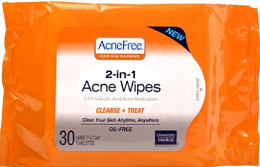 Acne Free Gentle Cleansing Bar or 2-in-1 Wipes
