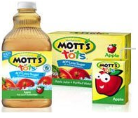Motts For Tots1 $1.50 off ANY Motts For Tots Juice Coupon
