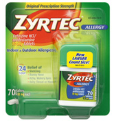 Zyrtec 7 $4 off Zyrtec Product 24 Count+ Coupon